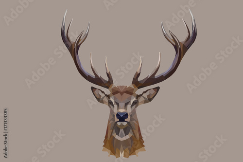 Recess Fitting Deer Reindeer abstract on brown background