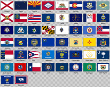 Set Of Icons. Flags Of The Sta...