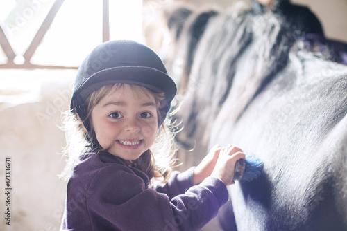 Obraz na plátně  The little rider