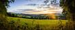 canvas print picture - Landschaft im Erzgebirge mit Dorf