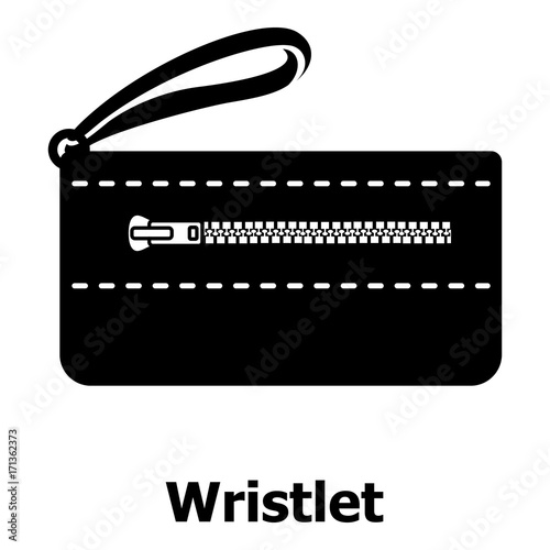 Fotografie, Obraz  Wristlet bag icon, simple black style