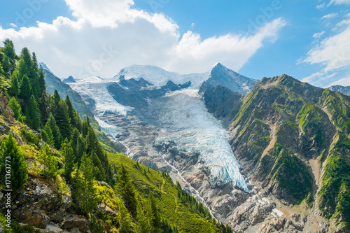 Foto auf Gartenposter Gebirge Glacier de Tacconaz
