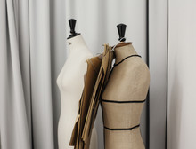 Mannequin Body Form Bust In A Fashion Designer Studio