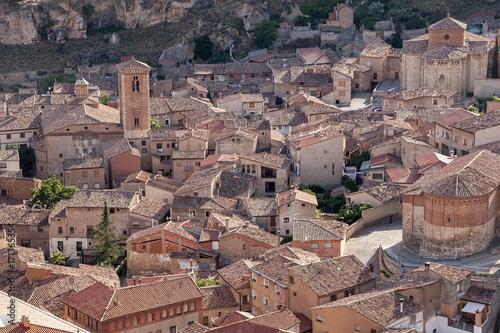 municipio medieval de Daroca en la región de Aragón, España Canvas Print
