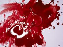 Blood Splatter With Heart