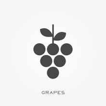 Silhouette Icon Grapes