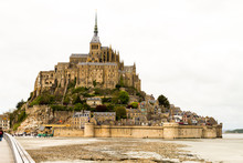 Le Mont-Saint-Michel, Off The Country's Northwestern Coast, At The Mouth Of The Couesnon River Near Avranches In Normandy, France