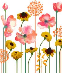 Obraz Summer floral bed