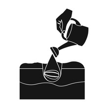 Watering Single Icon In Black ...