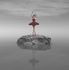 Fototapeta Taniec / Balet Young and beautiful ballerina