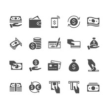 Money Flat Icons.