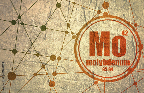 Molybdenum Chemical Element Sign With Atomic Number And Atomic
