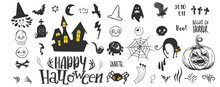 Set Of Silhouettes For Hallowe...