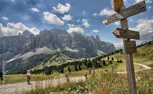 Il Gruppo del Sella in Alto Adige Wallpaper Mural