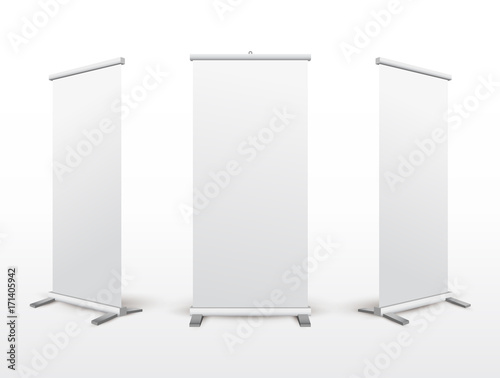 set of roll up banner stand flip chart for training or promotional