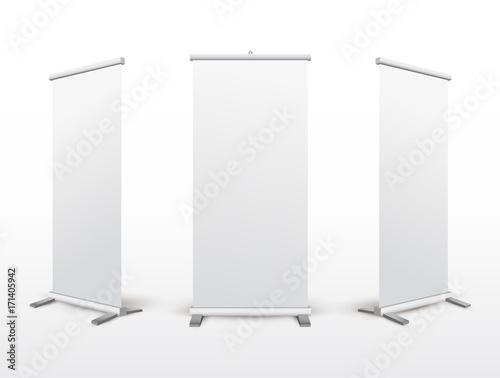 Fotografía  Set of roll up banner stand