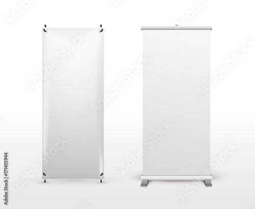 set of banner stand flip chart for training or promotional
