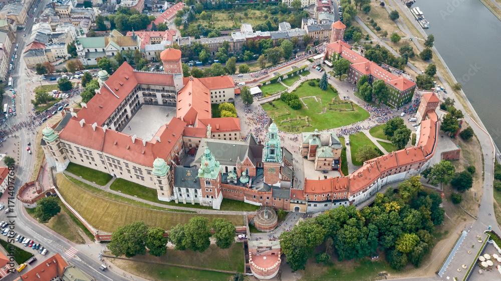 Fototapety, obrazy: Zamek Królewski na Wawelu z wysokości