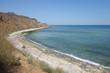 Sea coast at the north of Vama Veche resort at the Black Sea in Romania