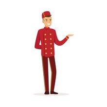 Smiling Doorman Character Wear...