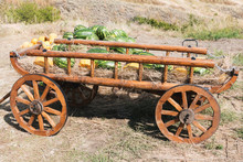 Old Cart With Melons And Water...