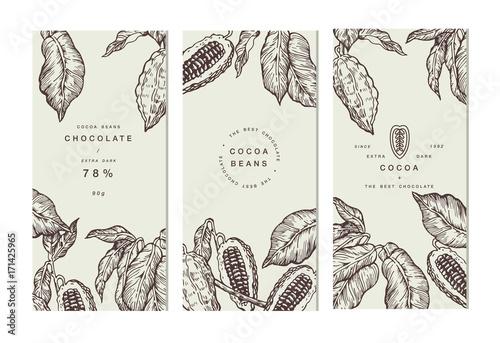 Fotografía  Cocoa bean tree banner collection