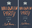 Template of poster and flyer for the Halloween party. Vector illustration.