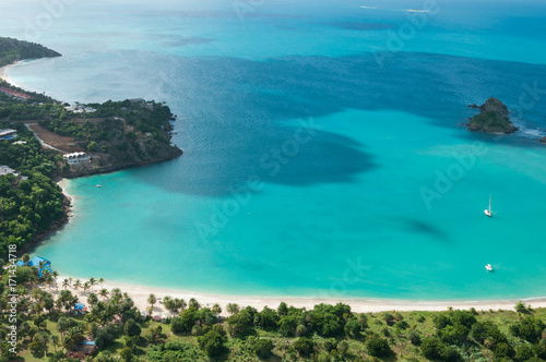 The Caribbean Island Antigua, view from above Canvas Print