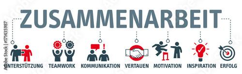 Banner Zusammenarbeit - icons