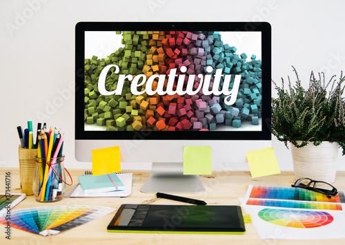 Obraz stationery desktop creativity - fototapety do salonu