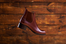 Women's Brown Leather Chelsea ...