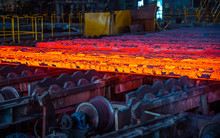 Hot Ingot After Molten Steel C...