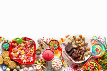 Large Selection Of Kids Party Food And Sweets