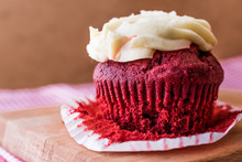 Red Velvet Cupcake With Cream ...