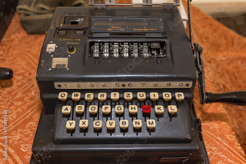 Photo  The Enigma Cipher Machine from World War II