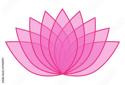 Pink transparent lotus flower icon logo on white background pink transparent lotus flower icon logo on white background illustration 1 mightylinksfo