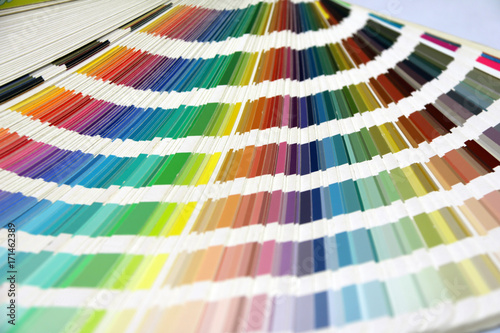 Rainbow Sample Colors Palette Catalog, Color swatches book isolated ...