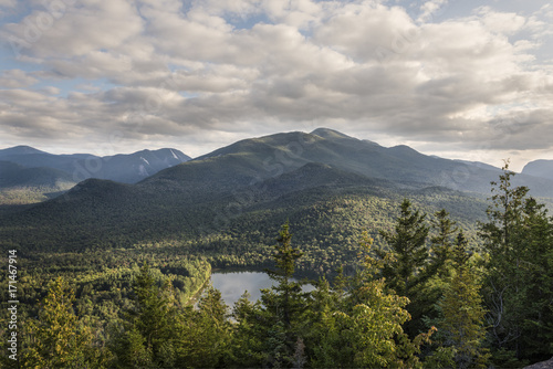 Photo Adirondack Mountains and Heart Lake