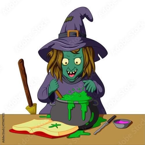 Cadres-photo bureau Pirates Witch preparing a potion