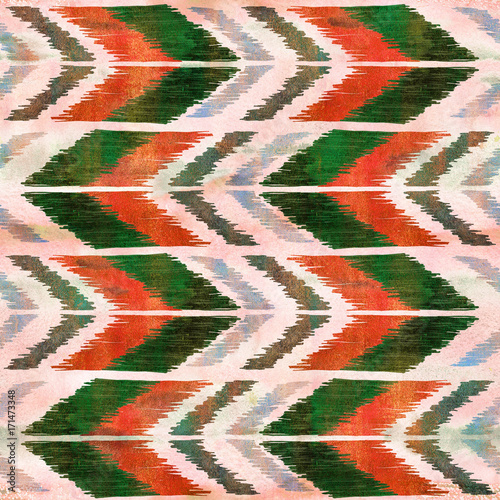 Poster Boho Stijl Ethnic zig zag ornament. Chevron pattern. Boho style background. Hippie fashion fabric.High-resolution seamless texture