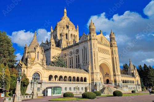 Stickers pour porte Con. ancienne Basilique Sainte-Thérèse de Lisieux, Calvados, Normandie