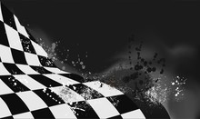 Checkered Flag Background Vect...