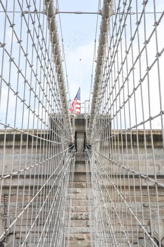 Foto op Aluminium New York Pont de Brooklyn