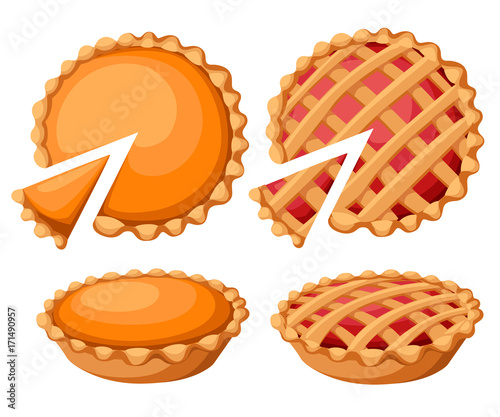 Fotografie, Tablou Pies Vector Illustration