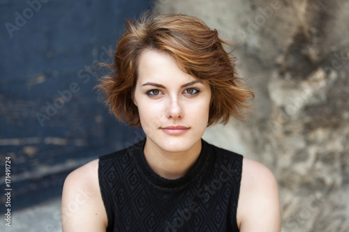 Photo  Beautiful young girl