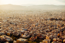 Sunset View Over Athens
