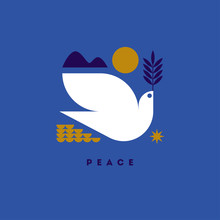 Peace Day Greeting Card With F...