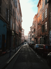 Mobile Phone Capture Down An Empty Inner City Alleyway