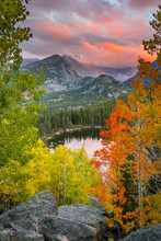 Fall Colors And Sunset Over Lo...