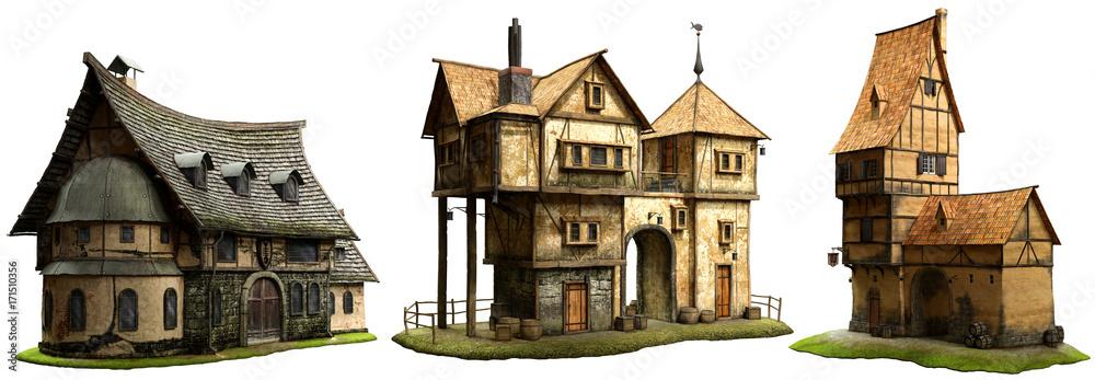 Fototapeta Fantasy buildings